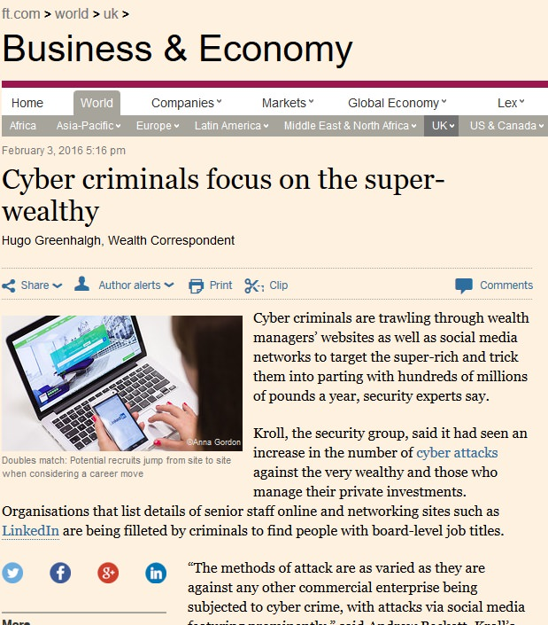 CyberCriminals 3rd Feb 2016