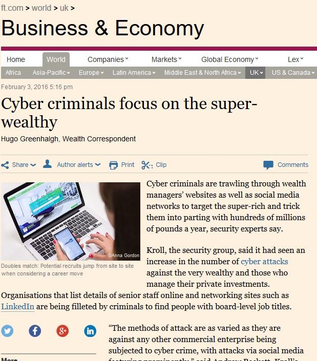 CyberCriminals 3rd Feb 2016