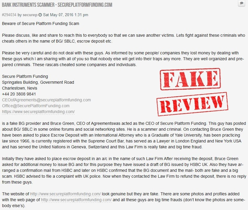 Secure Platform Funding Fake Client Review1
