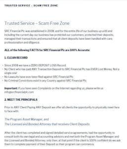 Src financial plc