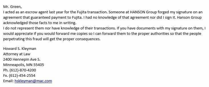 Fraud Confirmed