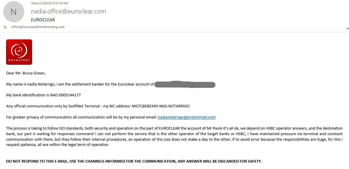 Website Fraud Email 22nd August 2018