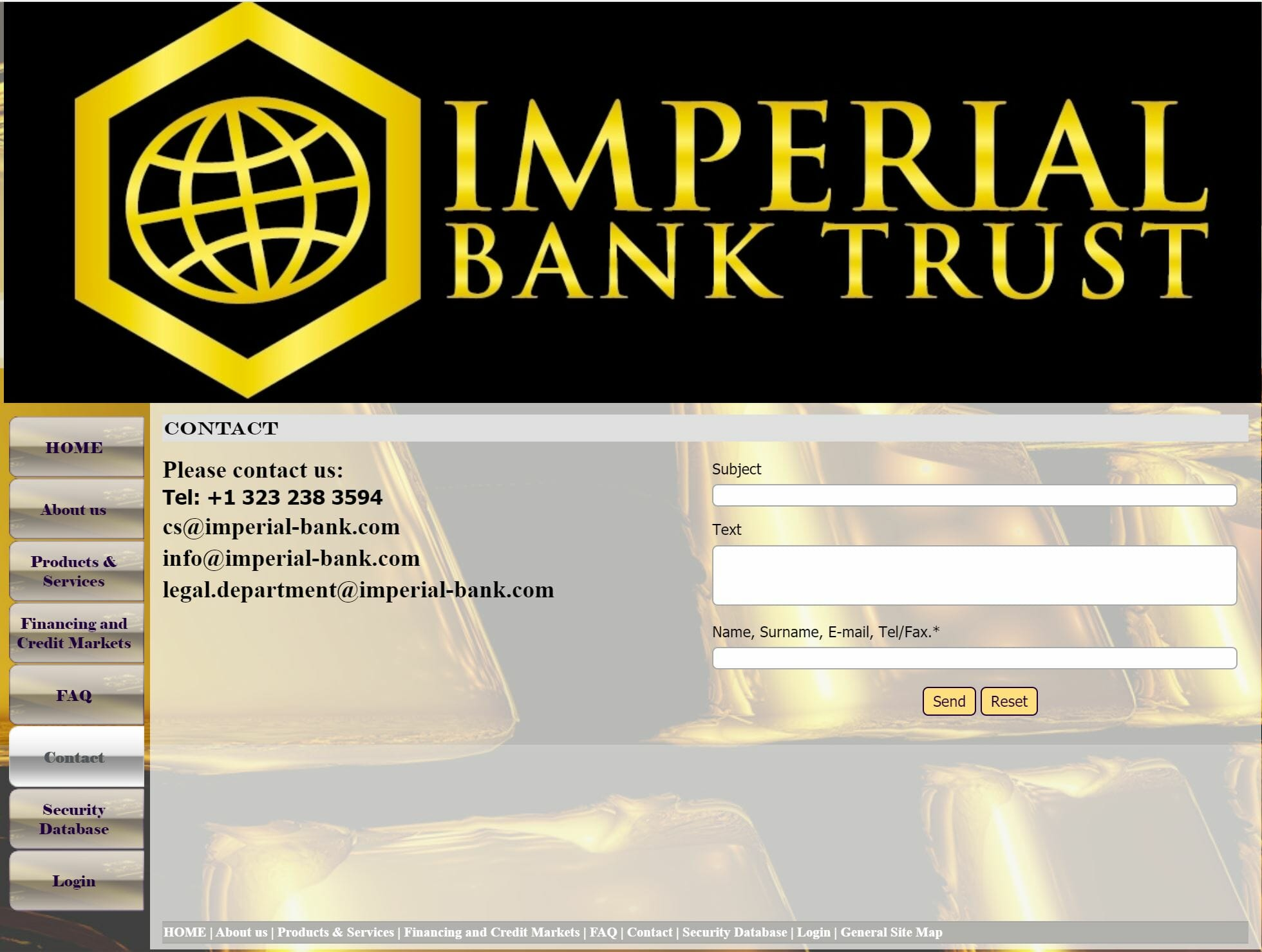 Imperial Bank Trust - No Address